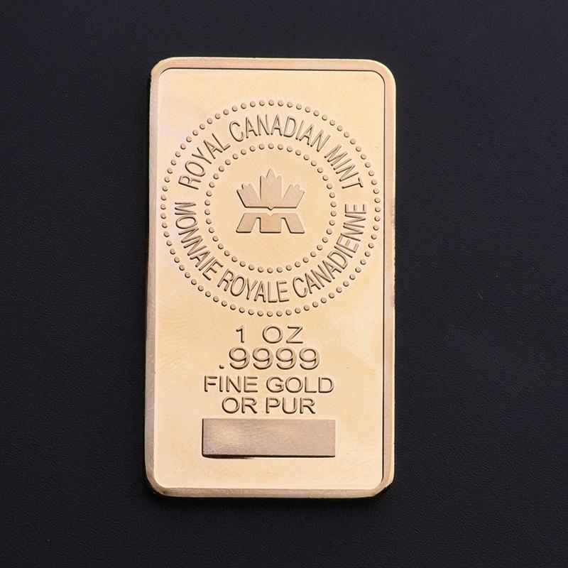 Canada Gold Bullion Bar 1 OZ  9999 Fine Gold Or Pure Royal Canadan Mint  Monnaie