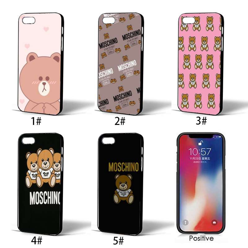 the latest e150e ea0f2 Iphone Xs Max XR 8 7 6S Plus Cartoon Cute Moschino Brown Bear Soft TPU Case
