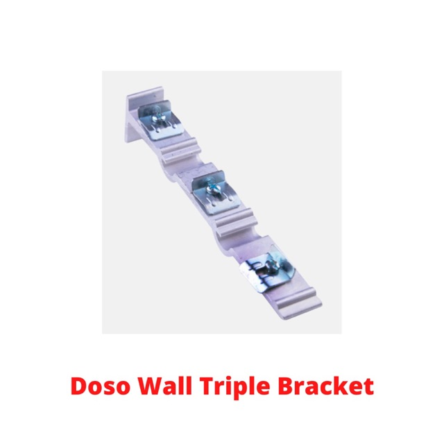 (WHOLESALE) Doso Super Curtain Bracket (Wall) Aluminium Rail Langsir Bracket (Dinding)