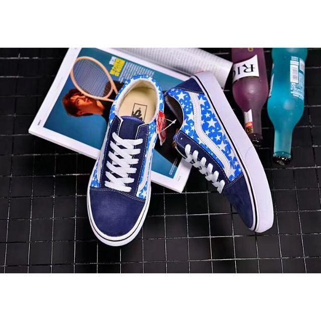 14bb8cf0c2de22 Vans Old Skool Star Light Core Blue Men Sneakers Shoes
