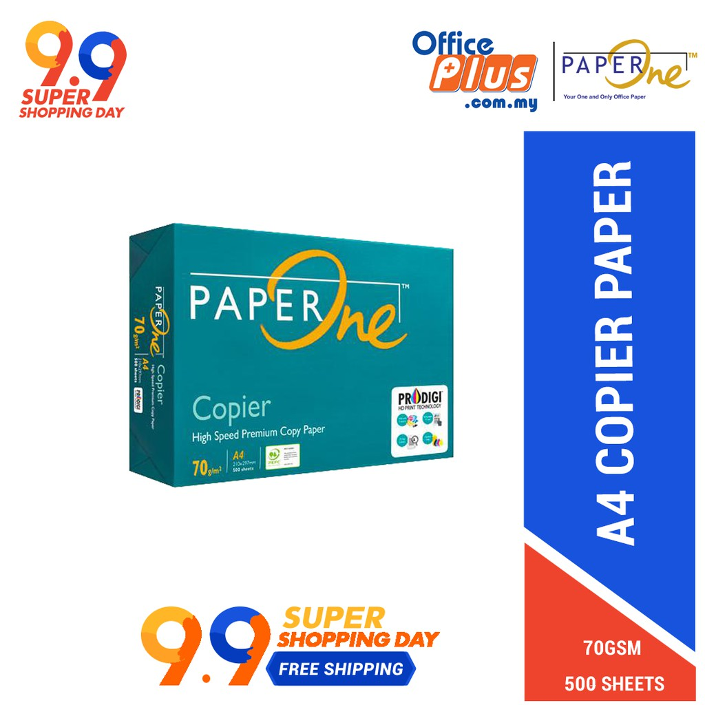 PaperOne A4 Copier Paper 70gsm - 500 sheets