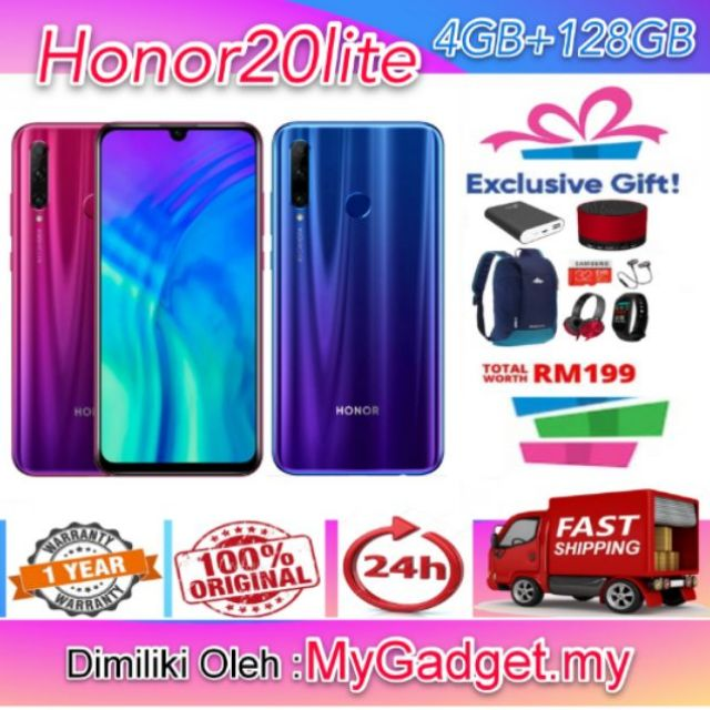 [Free Bag]Honor 20lite 2019 [4GB+128GB][Original Honor Warranty]