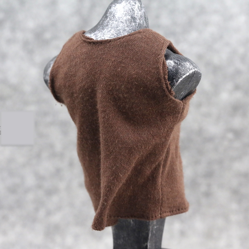 """1//6 Male Clothes Soldier Vest Accessory Brown Underwear Model Fit 12/"""" Doll Model"""