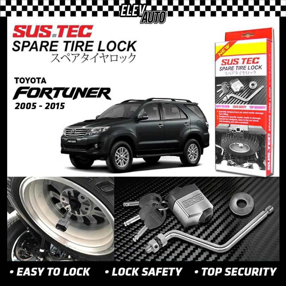Toyota Fortuner 2005-2015 SUSTEC Spare Tire Wheel Lock Anti-Theft
