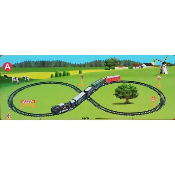 Summer Toys 19pcs dia.91cm Simulation Classic Train Playset Toys for Girls boys Kids
