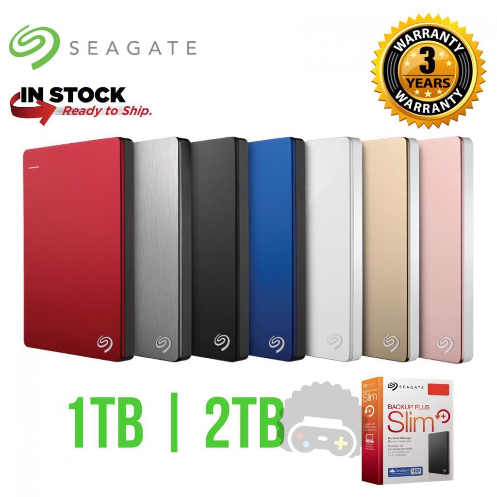 Seagate Backup Plus Slim Portable Drive External HDD Hard Disk Hard Drive  1TB / 2TB