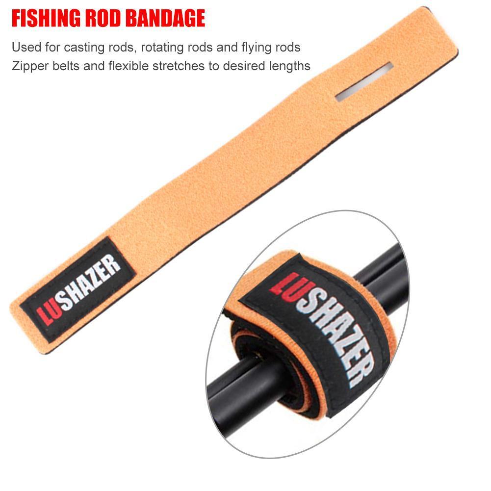 1Set Fishing Rod Carrier Strap Sling Band Adjustable Shoulder Belt Tackle Holder Fishing Equipment Fishing