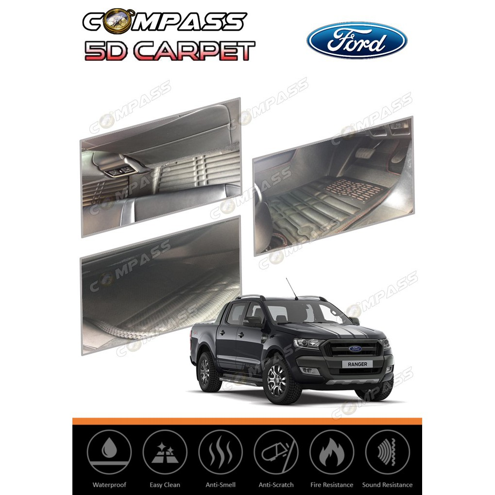 FORD RANGER 5D PU LEATHER CAR CARPET