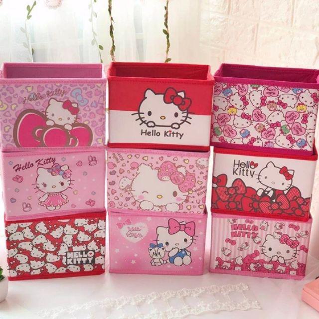 [ READY STOCK ]  Cartoon Desktop Stationary Organizer Storage Box Foldable Makeup Cosmetic Jualan Murah Cabinet Kid Baby