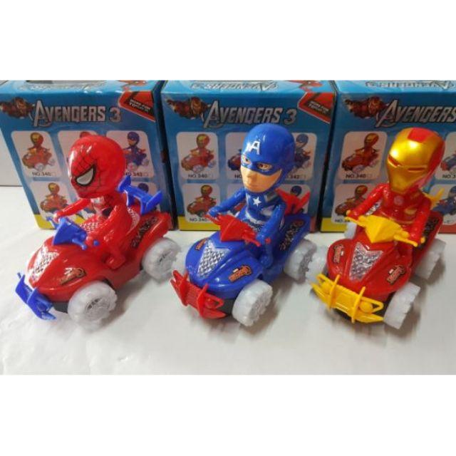 Musical car toy ] Spiderman/ Iron Man/ Captaon America