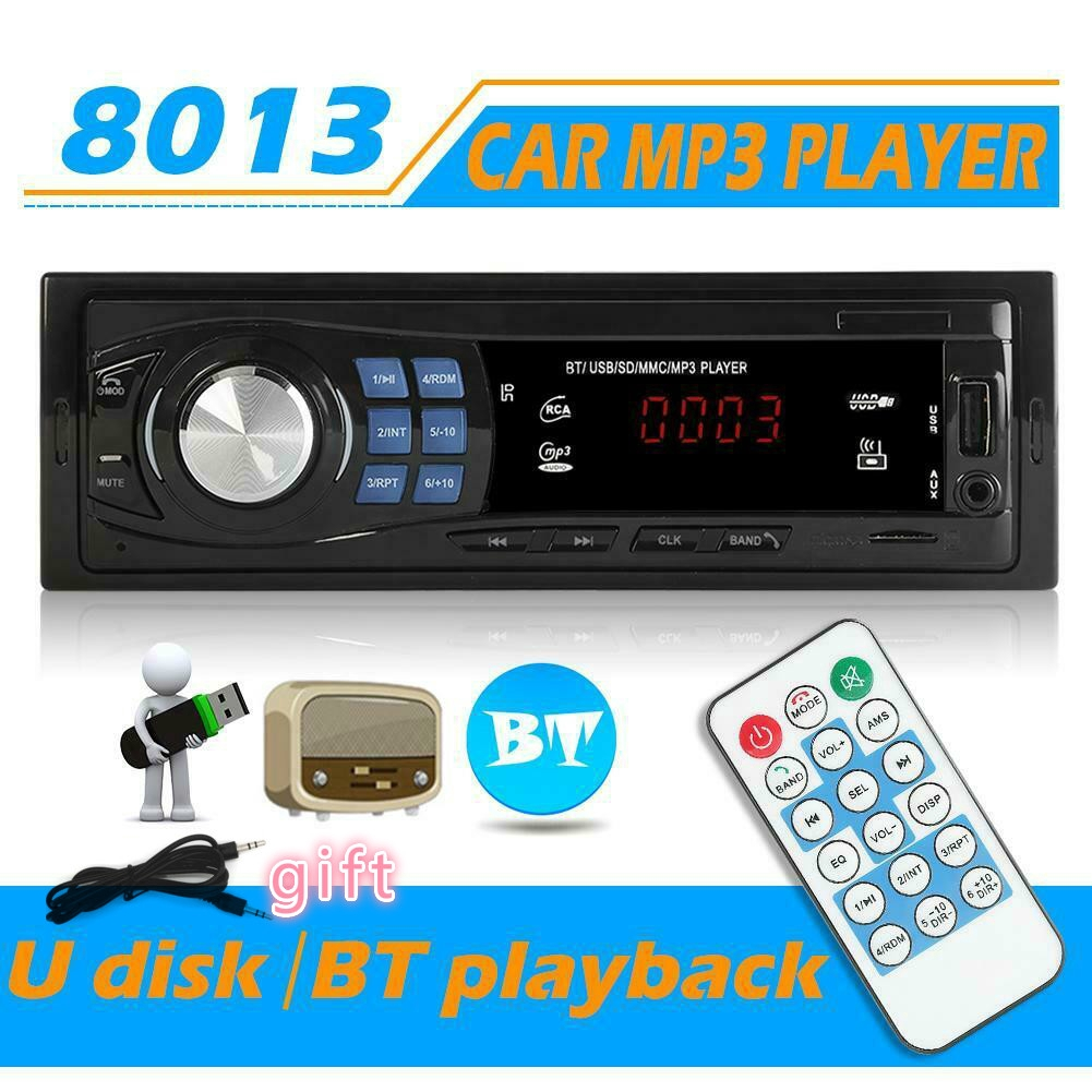 SWM 7/'/'Autoradio BT Auto Stereo MP5 MP3 Player 1DIN HD Touchscreen FM//AM AUX USB