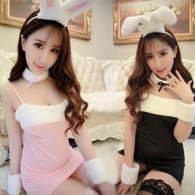 {Ready Stock For Black Colour}[Free Size] Nightwear Cosplay Bunny Girl 情趣内衣圣诞节装兔子服兔女郎 性感真人制服诱惑套装角色扮演