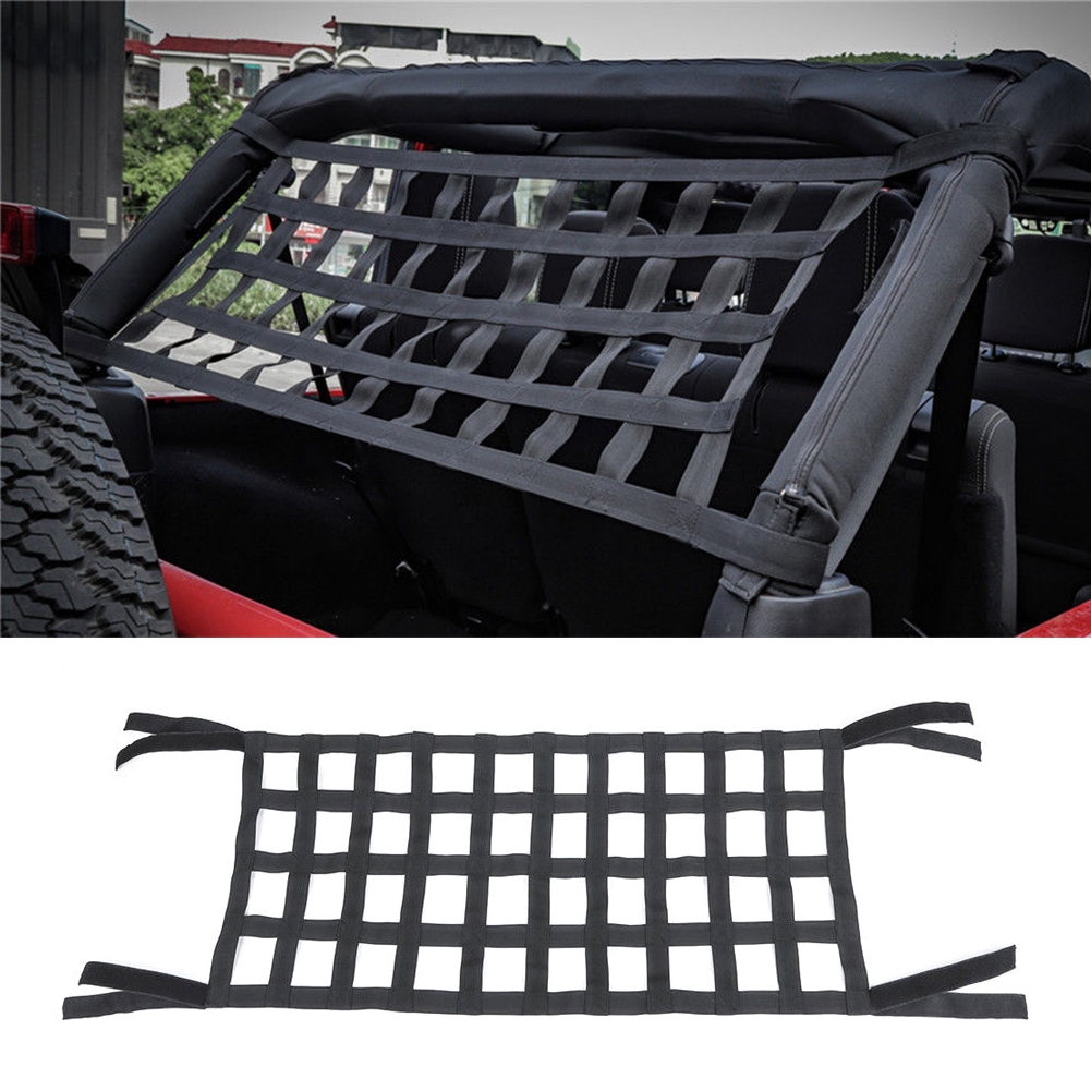 Car Covers Exterior Accessories For Jeep Wrangler Jl Jk 2007-2018 1pc Black Top Roof Hammock Rest Bed Cargo Net Cover Car Exterior Accessories Rapid Heat Dissipation