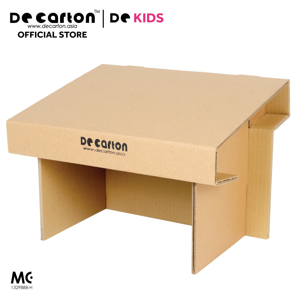 De Carton Cardboard Drawing Desk for Kids
