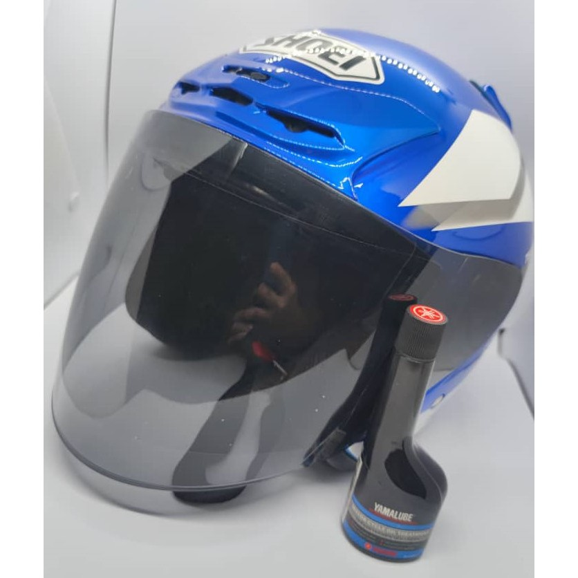 [READY STOCK]MOTOR HELMET SHOEI YAMAHA FACTORY 50TH ANNIVESARY BLUE COLOUR(FREE OIL TREATMENT)