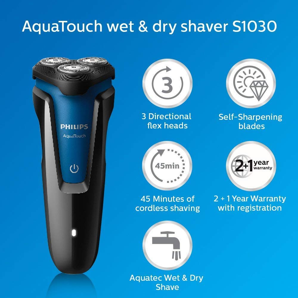 Philips S1030/05 Aqua Touch Wet And Dry Electric Shaver