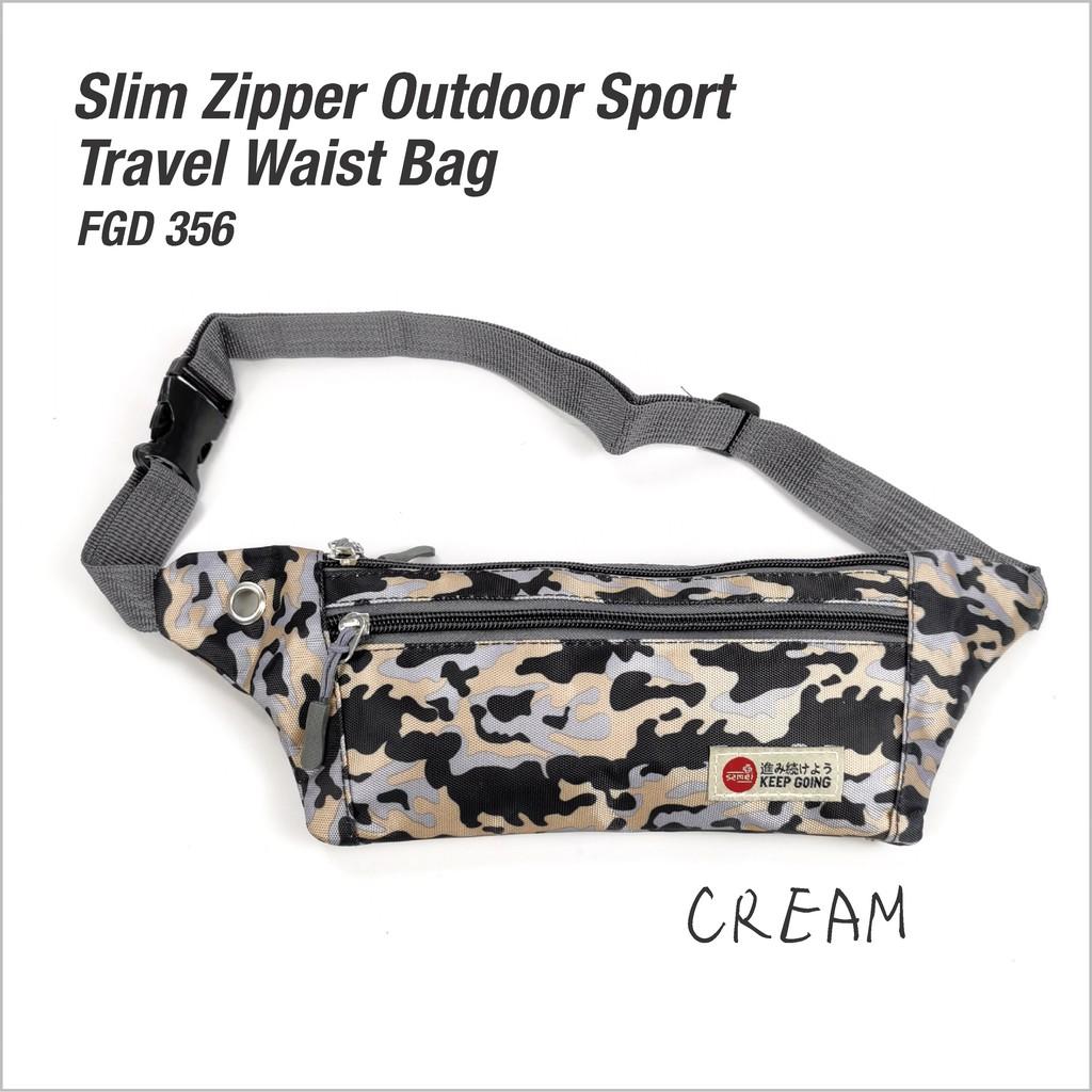 FGD 356 SLIM ZIPPER OUTDOOR SPORT TRAVEL WAIST BAG