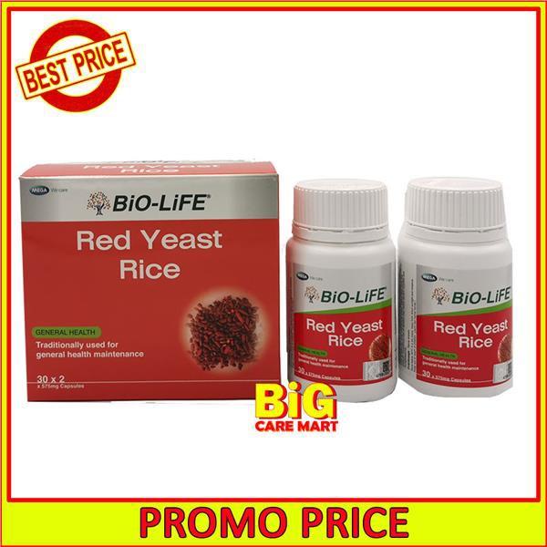 Bio-Life Red Yeast Rice 2X30\'s (Lower Cholesterol)