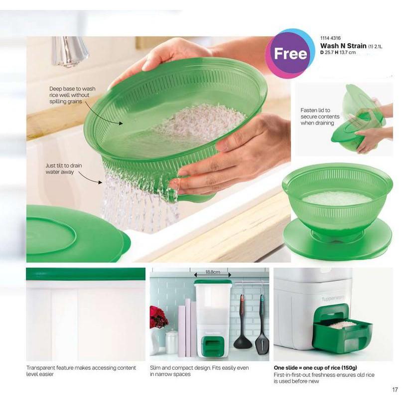 Tupperware Green Wash n Strain Kitchen Strainer Food Strainer
