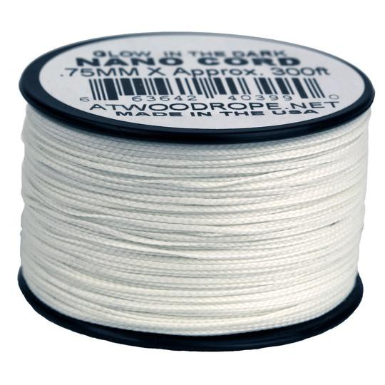 Atwood Nano Cord .75mm x 300ft (91m) - Glow In the Dark