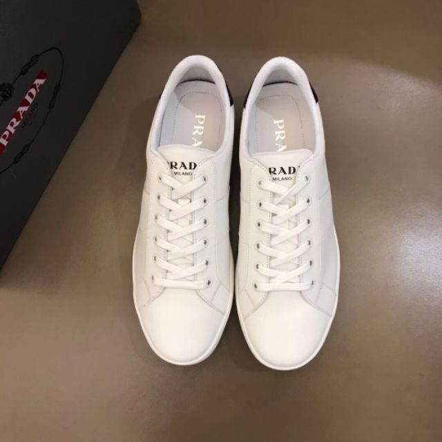 MEN\'S LEATHER SNEAKERS HIGHEST EDITION 2019 WHITE 38-45 EURO