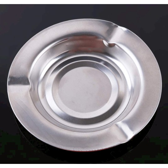 Stainless Steel Ash Tray Suitable for Cigarette Ash Holder for Home Hotel Restaurant Indoor Outdoor