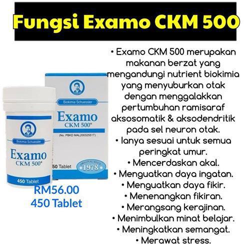 EXAMO CKM 500 BIRU 450 TABLET 100% ORIGINAL HQ+FREEGIFT