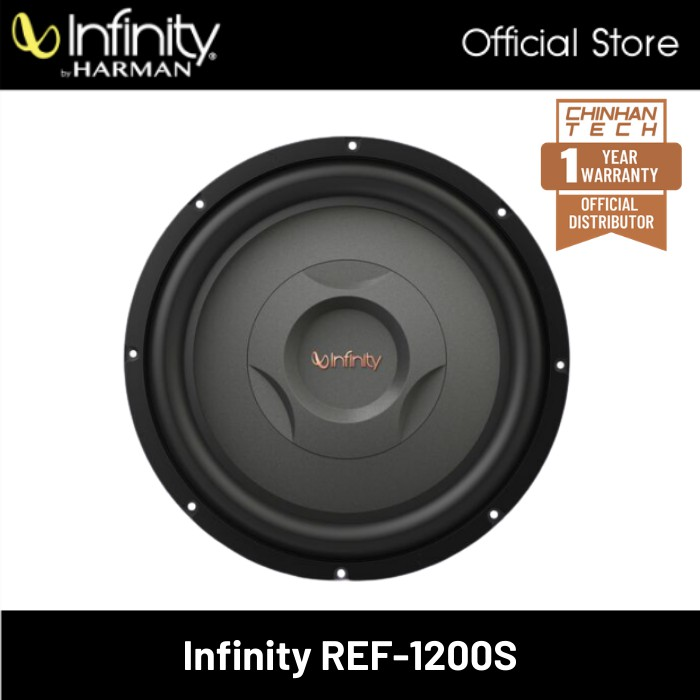 """Infinity REF1200S Shallow-Mount Component Subwoofer (12"""")"""