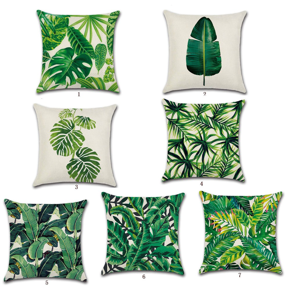 18/'/' Printing Leaves Throw Pillow Case Sofa Bed Cushion Cover Decor Design new