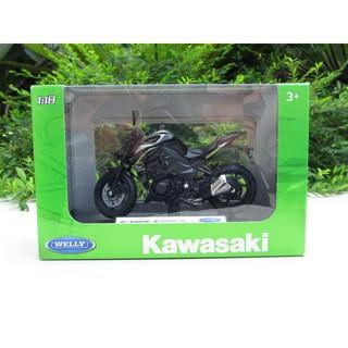 Welly 1:18 Kawasaki Ninja 2017 ZX-10RR schwarz Motorrad Modell Superbike Lizenz