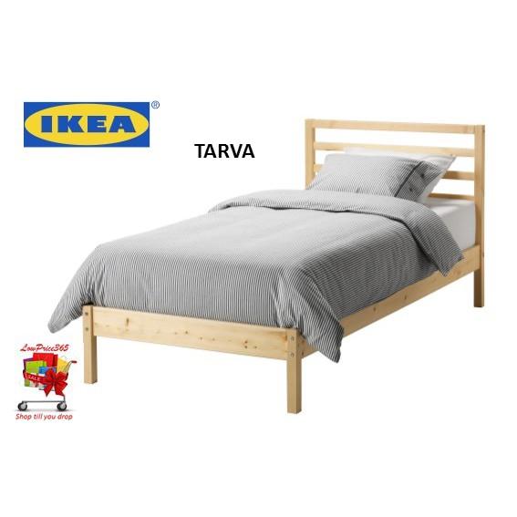 Ikea Tarva Bed Frame Luroy Slatted Bed Based Pine