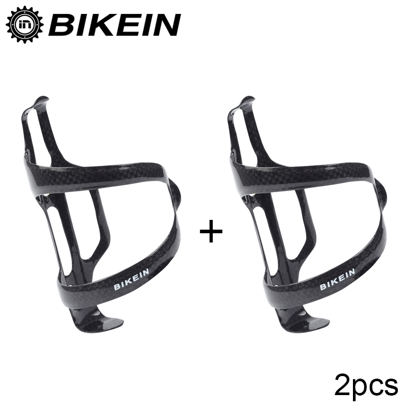 3K Glossy Carbon Fiber Bike Bottle Water Holder Road Bicycle Mountain Cages 2pcs