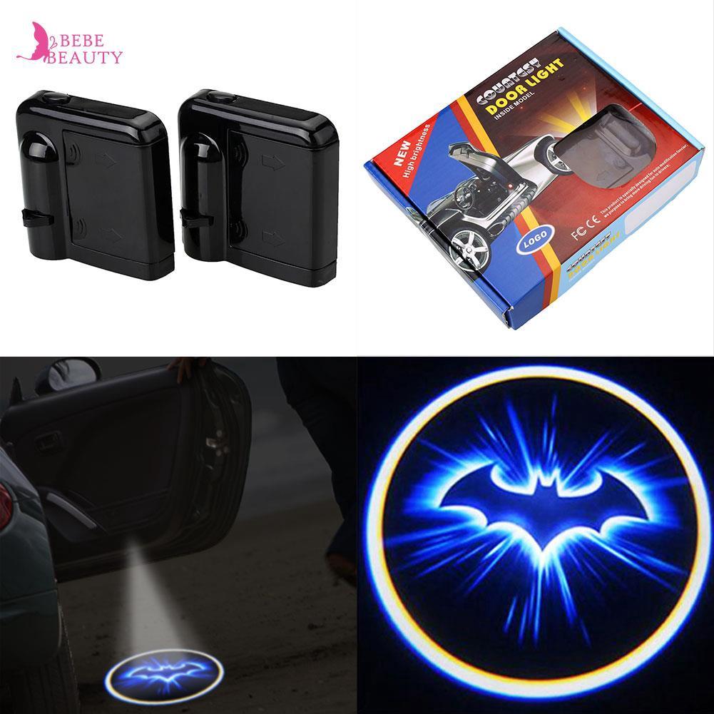 2pcs Wireless LED Car Door Welcome Laser Projector Batman Courtesy Shadow Light
