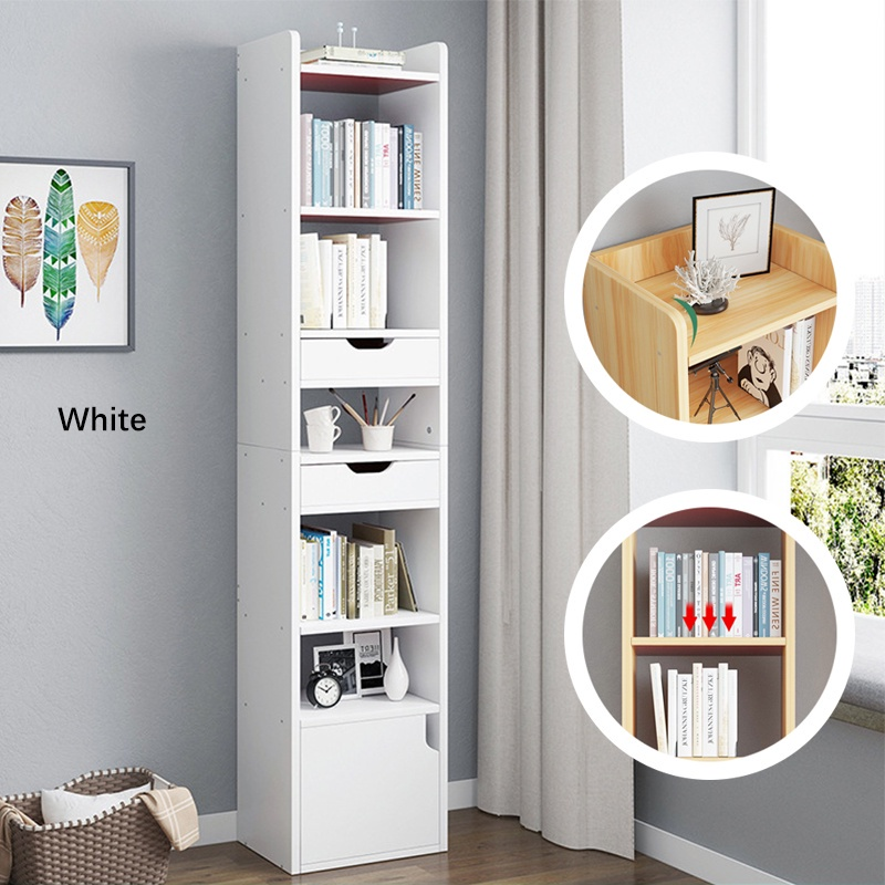 GDeal Multifunctional Modern House 7 Layers Space Saving Storage Rack Cabinet Cupboard Living Room Cabinet