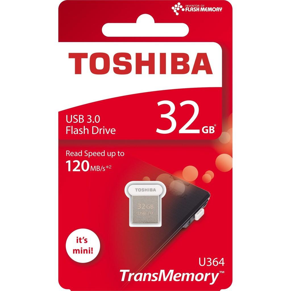 Toshiba TransMemory Towadako U364 32GB USB 3.0 Flash Drive 120MB/s THN U364W0320