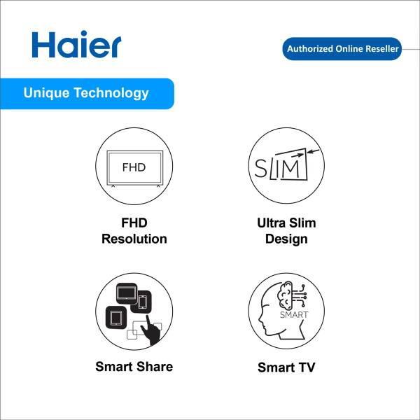 "Haier LE43K6500A 43"" inch Full HD Smart TV DVB-T+C/T2 LED TV"