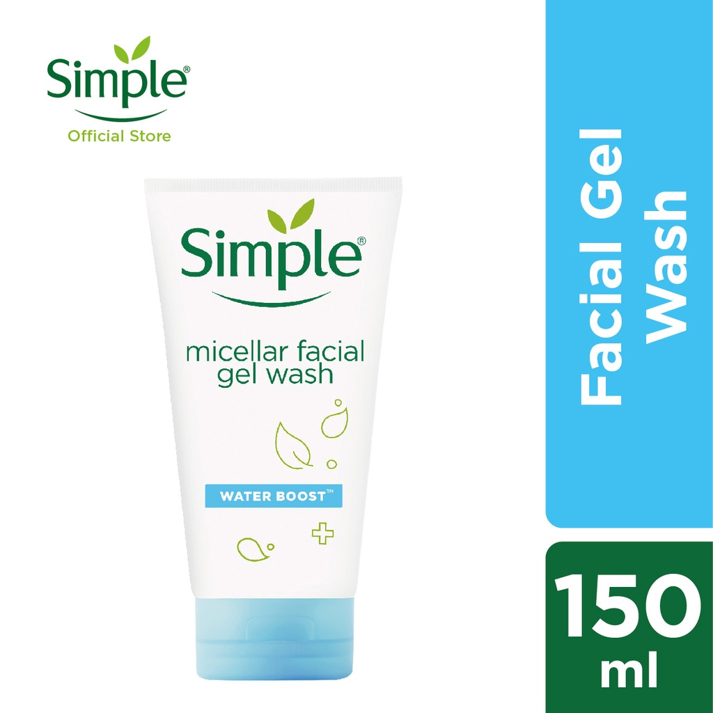 Simple Water Boost Micellar Facial Gel Wash (150ml)