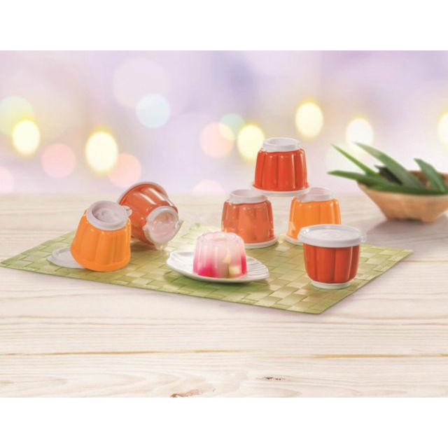 NEW TUPPERWARE JELLETTE JELLY MOLD CUP CONTAINER SET (6pcs)