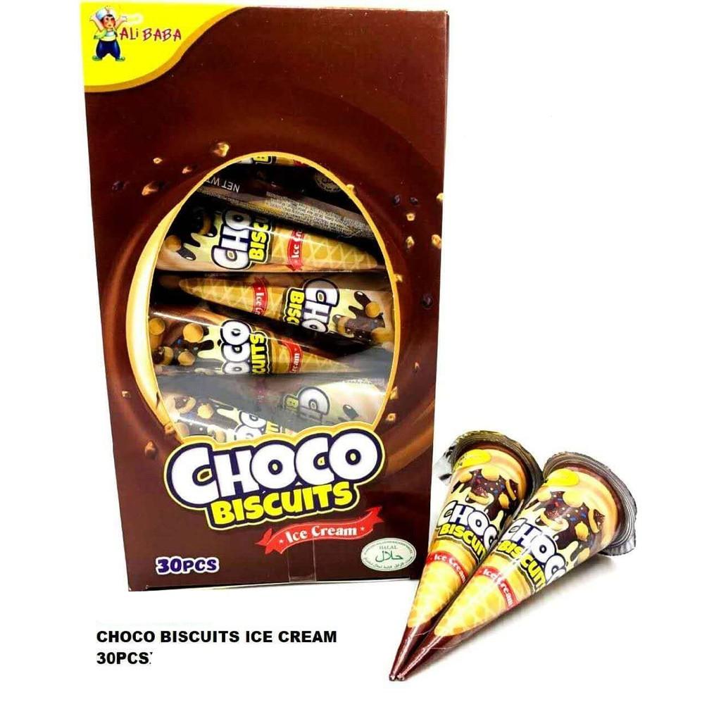 CHOCO BISCUITS ICE CREAM 30PCS