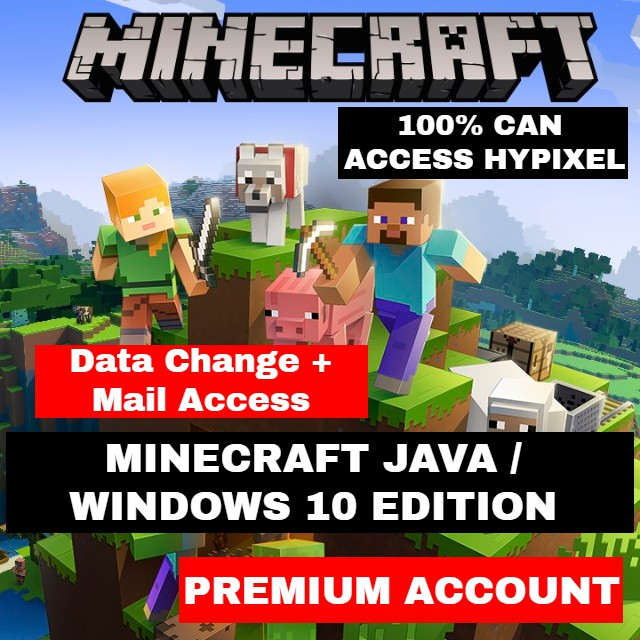 Free Gift Minecraft Java Windows 10 Full Access Can Access Hypixel Shopee Malaysia