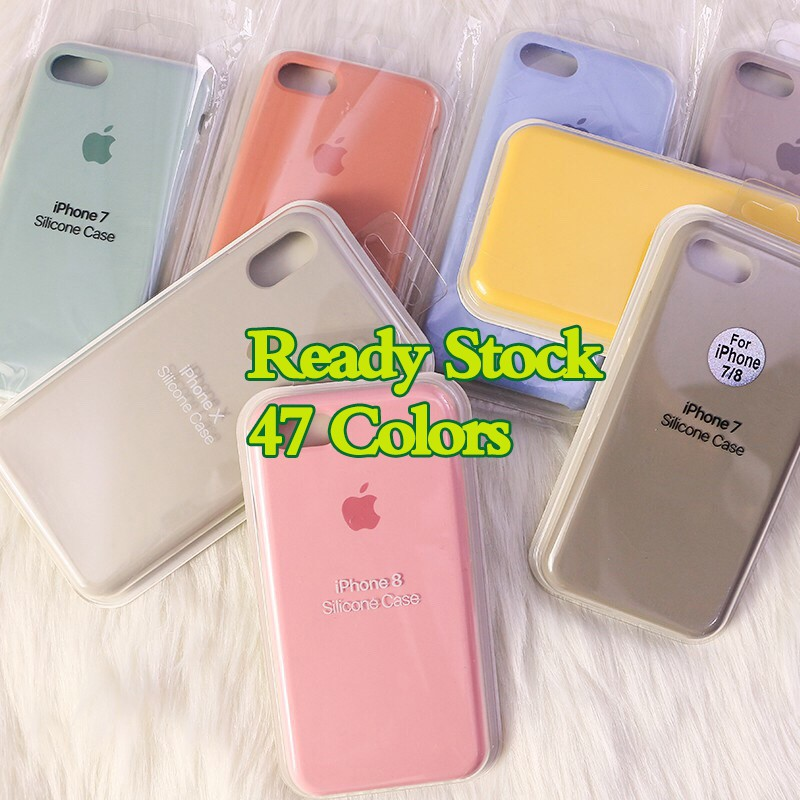 d89d8e5f0 iPhone 6 6s 7 8 X plus Case Liquid Silicone Case Phone Back Cover | Shopee  Malaysia
