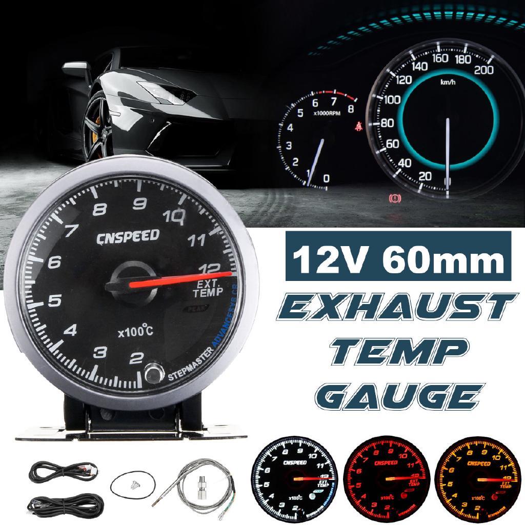 60MM Car Exhaust Gas Temperature Gauge 200-1200C EGT Gauge