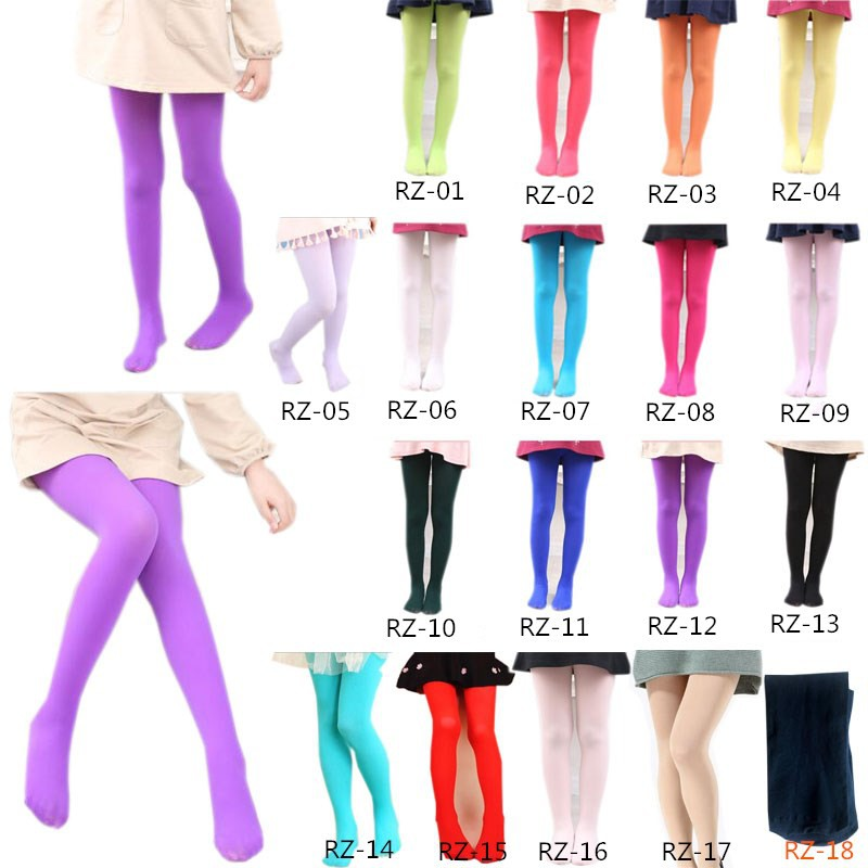 Summer Kids Child Girls Ultra-thin Breathable Tights Pantyhose Dance Pants Hot