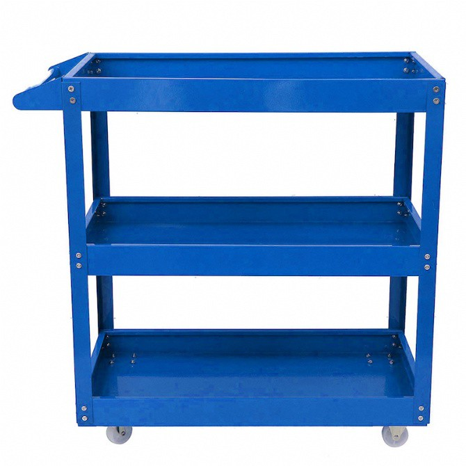 3 Layers Service Cart Tools Cart Utility Tool Service Trolley Barang Garaj Bengkel Push Cart Shelf Storage Metal Steel T