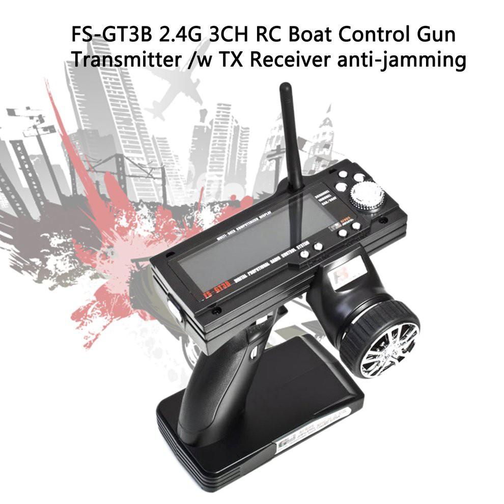 FS-GT3B 2 4G 3CH RC Boat Control Transmitter anti-jamming