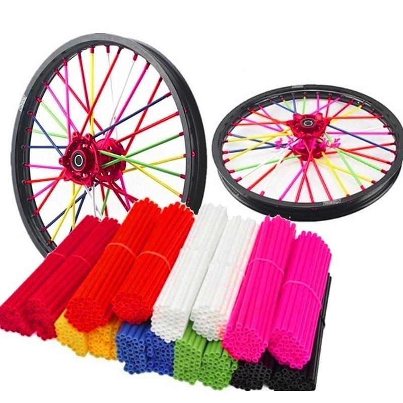 f2994620b3efe 72Pcs Motorcycle Dirt Bike Wheel Spoke Skins Covers Wrap Decor Protector