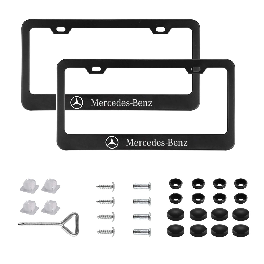 Security Theft Deterrent Screws for MERCEDES FRONT /& REAR License Plate 8 pcs