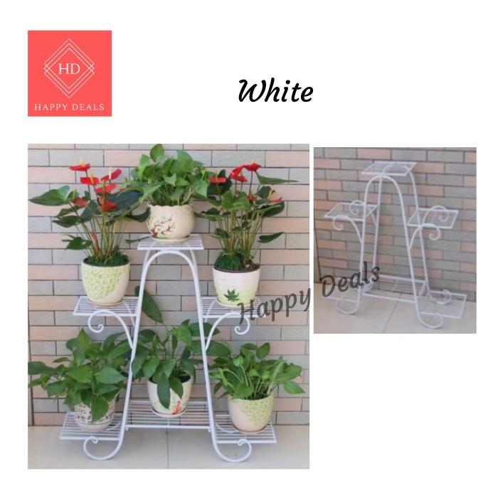Happy Deals Rak Pokok Bunga/Stand Pokok Bunga/Potted Plant Flower Rack/Potted Plant Flower Stand