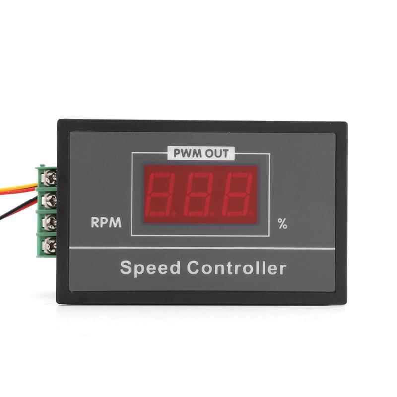 DC 6-60V 12V 24V 36V 48V 30A PWM DC Motor Speed Controller LED Start Stop Switch