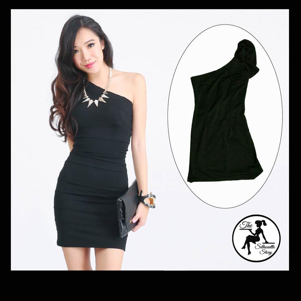 [AW 029] Black Toga Dress